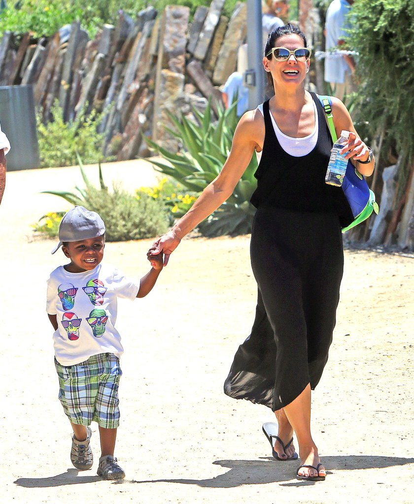 Sandra Bullock took her son, Louis, to the Natural History Museum in LA.