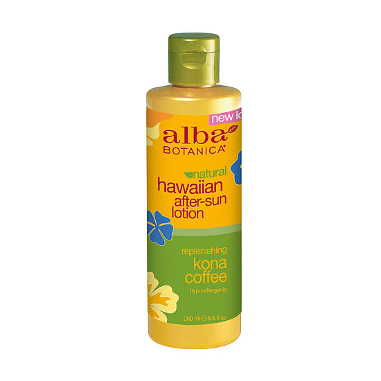 The natural formulation of  Alba Botanica Hawaiian After-Sun Lotion Kona Coffee ($10) blends the circulation benefits of coffee with the antioxidant benefits of green tea. Shea butter helps to nourish sun-exposed skin.