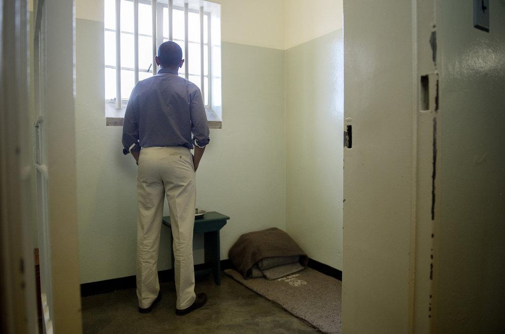 In June, President Obama stood inside the Robben Island cell where Nelson Mandela spent 27 years.
