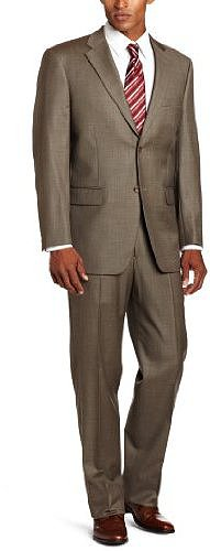 Jones New York Men's 24/7 Total Comfort Sharkskin Suit