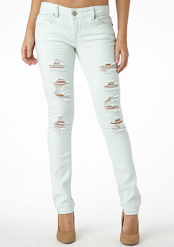 Almost Famous Destructed Color Skinny Jean