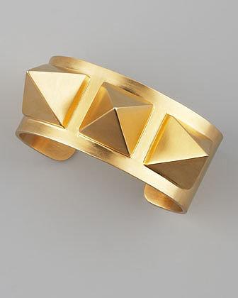 Janis by Janis Savitt Gold Pyramid Stud Cuff