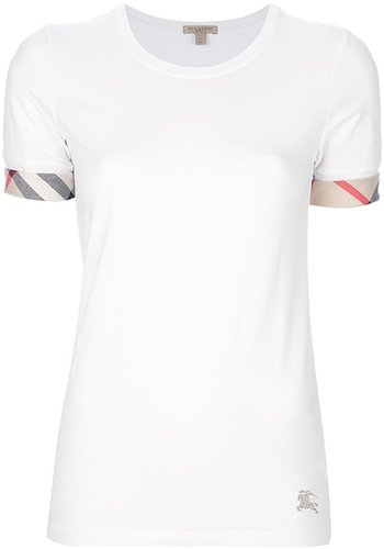 Burberry Brit checked cuff t-shirt
