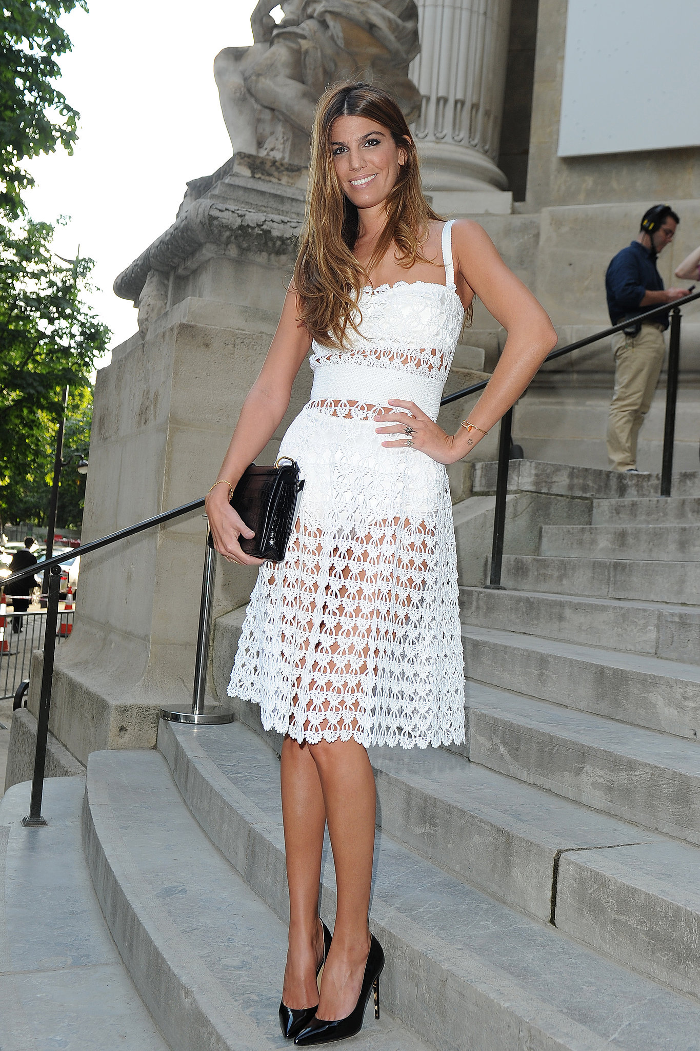 Lacy white fabric is spot-on for a Summer