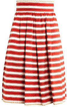 Dolce & Gabbana Raffia-trim jacquard-stripe skirt