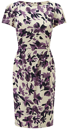 Viyella Watercolour Floral Dress, Amethyst
