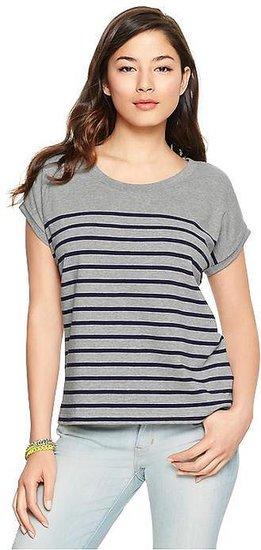 Striped dolman mariner top