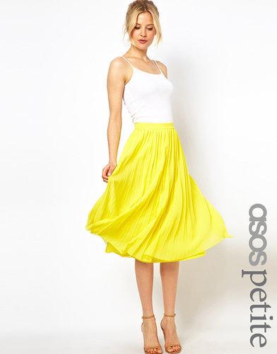 ASOS PETITE Pleated Midi Skirt