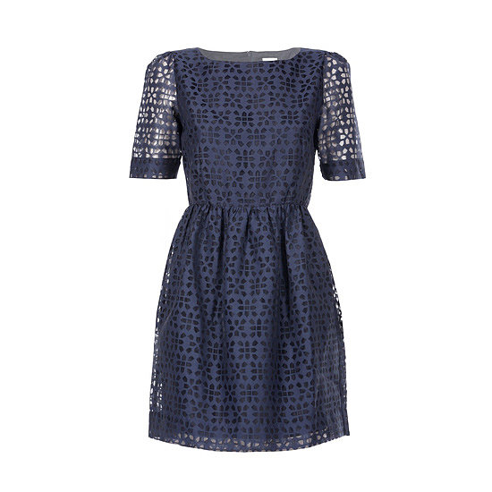 The best thing about a cute party dress with sleeves is that you won't be cold once you take your coat off. This one is particularly pretty because of the cut-out patterns. — Jess, celebrity and entertainment editor Dress, $249, Gorman