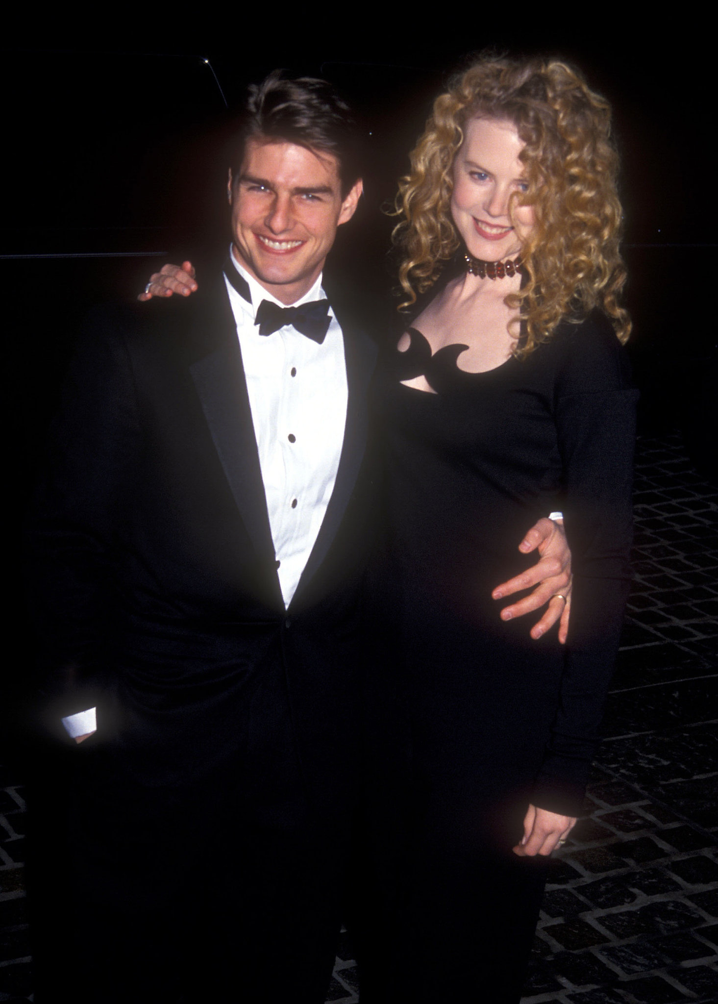 Tom Cruise donned a tux with Nicole Kidman at the Golden Globes in January 1992.