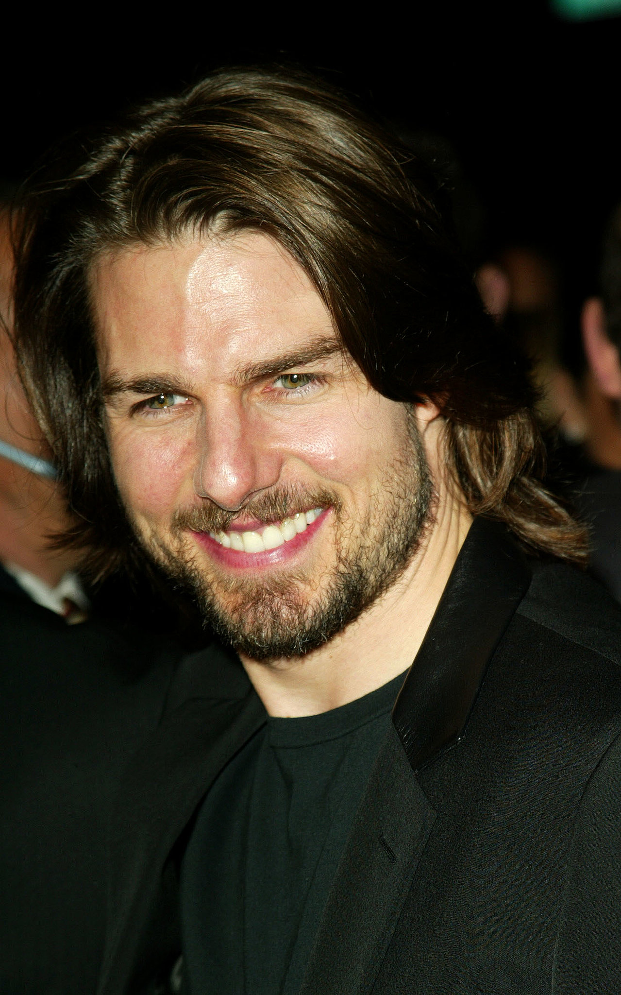 Tom Cruise sported some longer locks and a beard for the premiere of Narc in LA in October 20