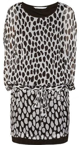 Diane von Furstenberg Robyn printed silk-chiffon dress
