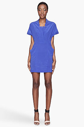 SEE BY CHLOE Indigo silk Shirt Dress