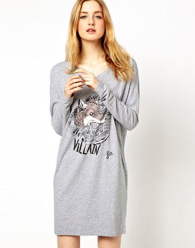 See By Chloe Tee Dress with Fox Print