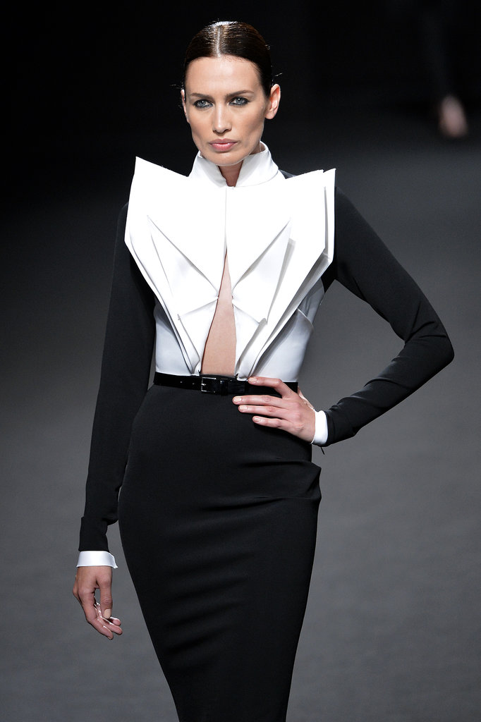 Appreciating the origami at Stéphane Rolland Haute Couture Fall 2013.