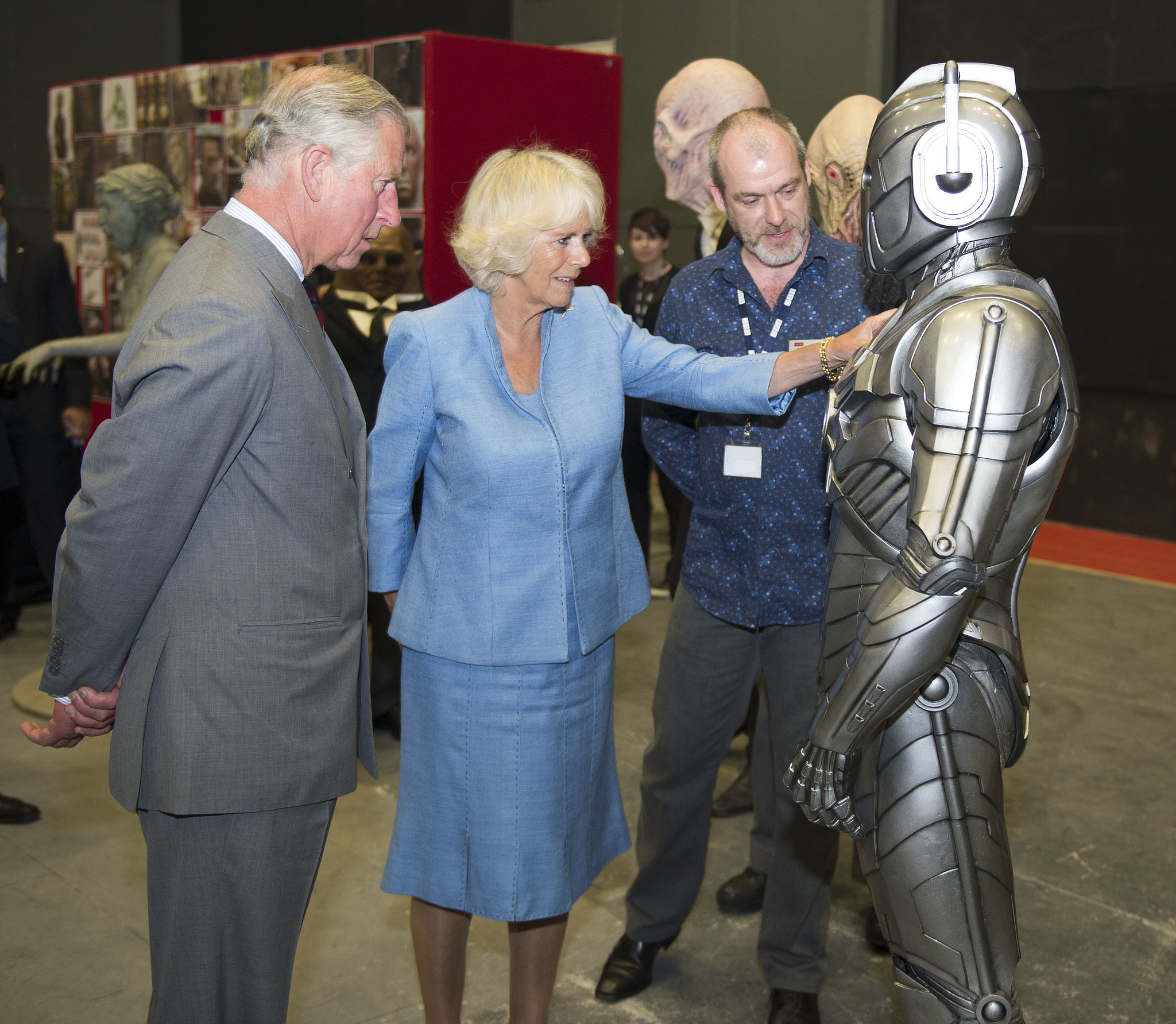 A Cyberman was much less fearsome without a metal army behind him.