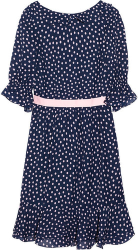 RED Valentino Polka-dot print georgette dress