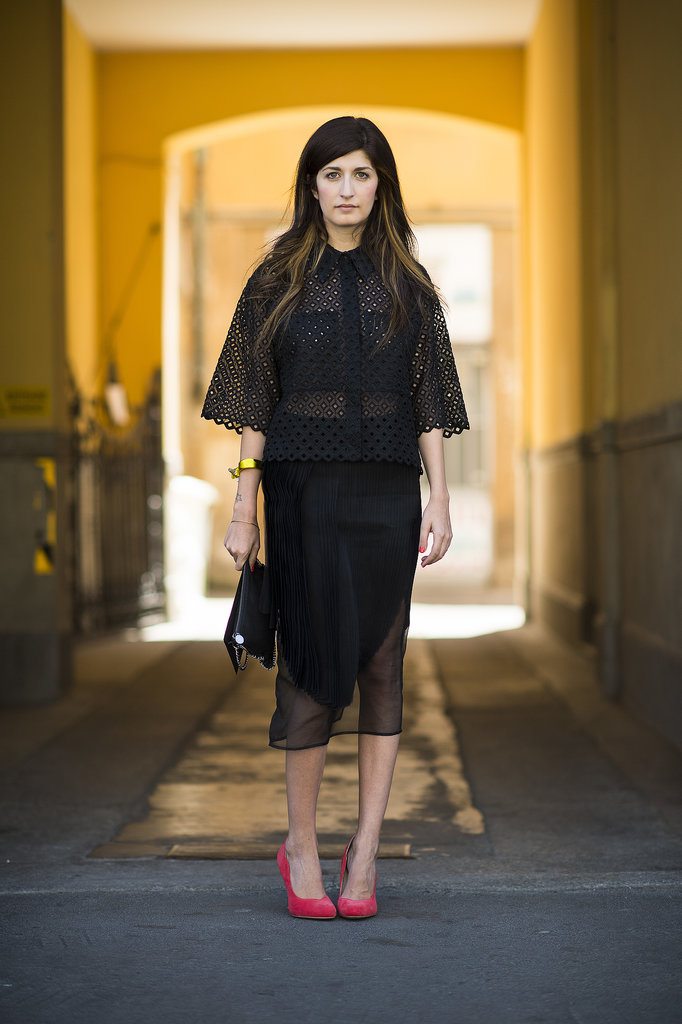 Test drive eyelet in black for a moody Summer style that's just as on point as any LWD. Source: Le 21ème | Adam Katz Sinding