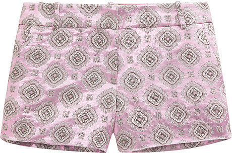 J.Crew Metallic jacquard shorts