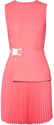 Christopher Kane Pleated wool mini dress