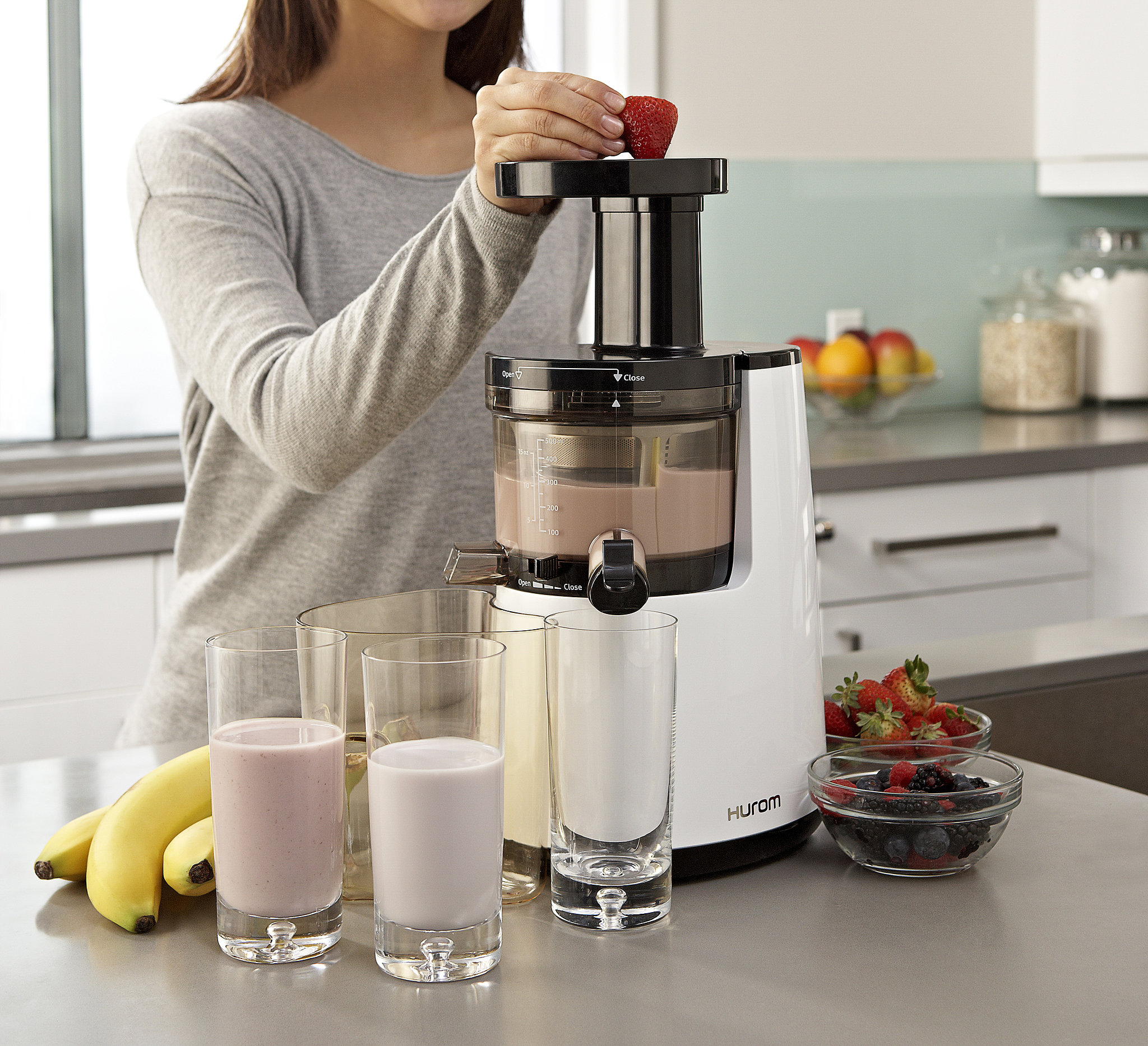 Hurom Slow Juicer And Smoothie Maker : Hurom Premium Juicer and Smoothie Maker On the Go: Our July Fitness Must Haves POPSUGAR Fitness