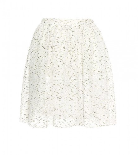 Chloé TWEED EMBROIDERED SKIRT