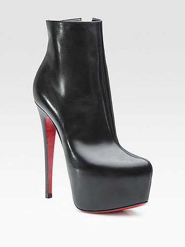 Christian Louboutin Daf Leather Platform Ankle Boots