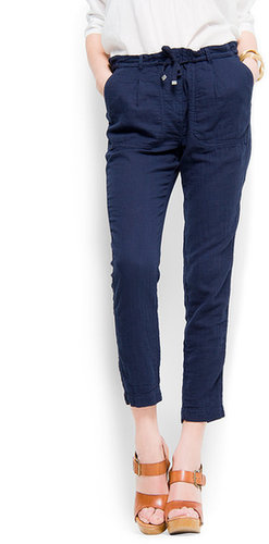 Cotton pocket trousers