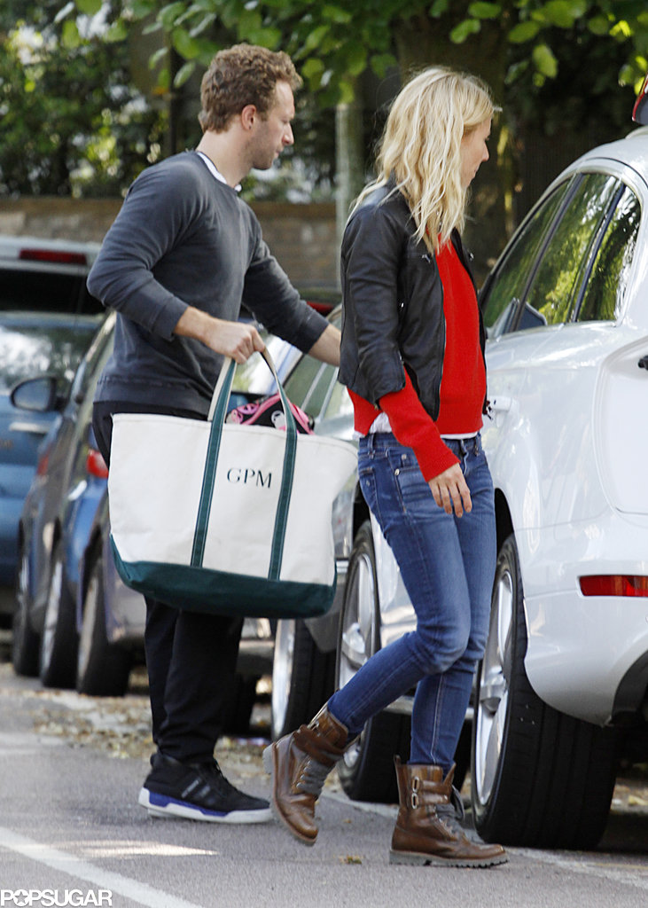 Gwyneth Paltrow and Chris Martin went shopping in London.