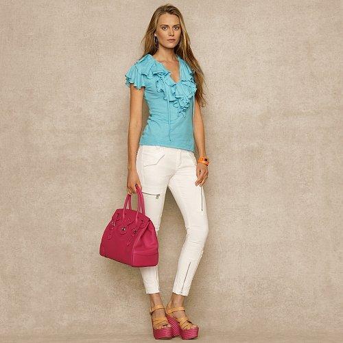 Ralph Lauren Blue Label Ruffled Cotton Top