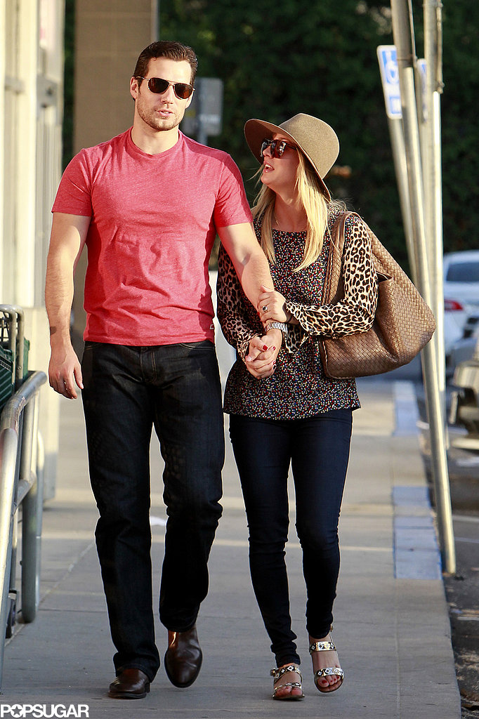 Henry Cavill and Kaley Cuoco held hands in LA.