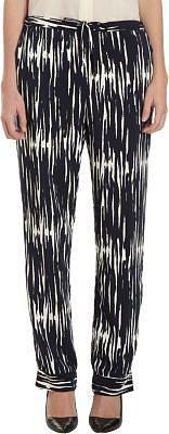 Sea Wood Grain Printed Pants