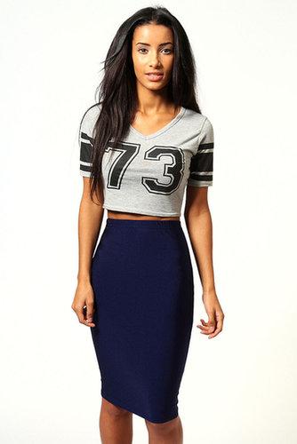 Lucy Disco Spandex Midi Skirt