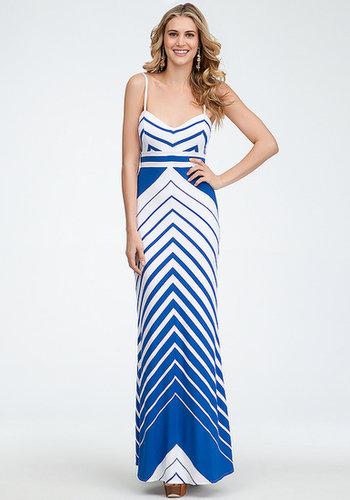 Empire Waist Stripe Maxi Dress