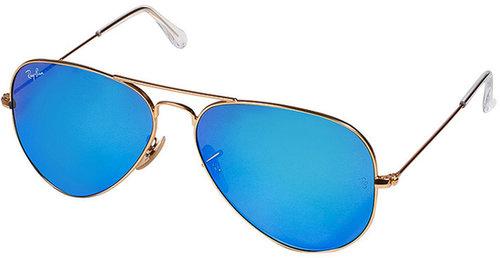 Ray-Ban Large Metal Mirrored Aviator Sunglasses in Arista
