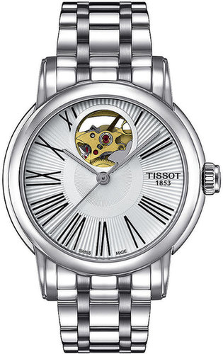 Tissot Watch, Women's Swiss Automatic Lady Heart Stainless Steel Bracelet 35mm T0502071103300