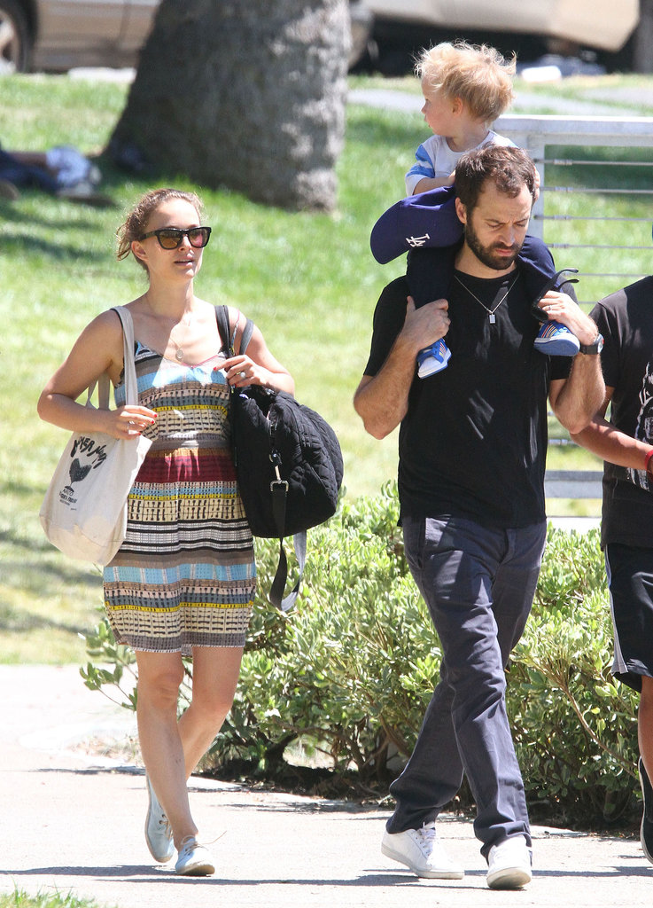 Natalie Portman enjoyed a day at the park with her family.
