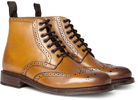 Grenson Sharp Leather Brogue Boots