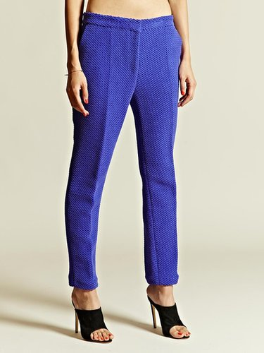 mento Women's Basket Weave Cigarette Trousers
