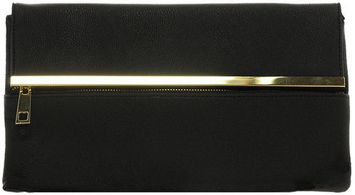 ASOS Clutch Bag With Bar And Zip Detail