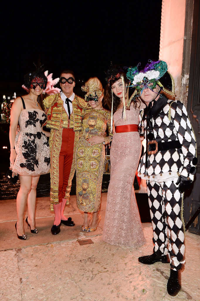Caterina Murino, Stefano Gabbana, Paloma Faith, Daisy Lowe, and Domenico Dolce embraced the party spirit and one another for a star-packed group shot.
