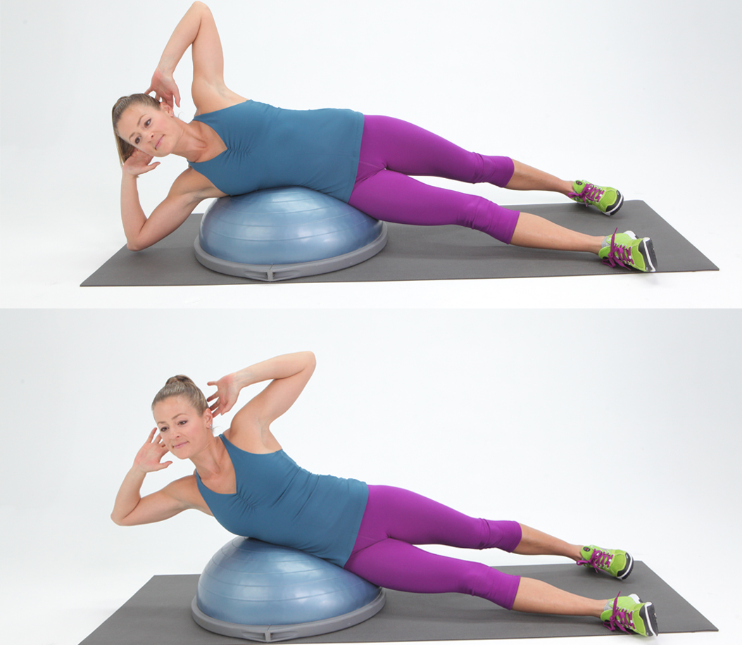 BOSU Side Crunch | 7 Hard-Core Oblique Moves