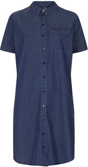 MOTO Indigo Denim Shirt Dress