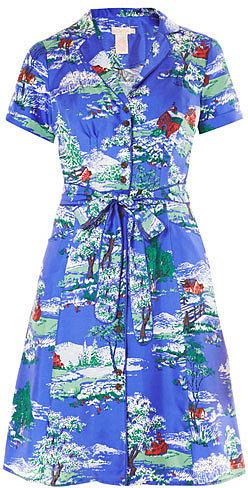 Collette by Collette Dinnigan Prairie silk printed shirt dress