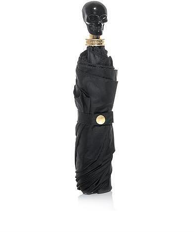 Alexander McQueen Onyx resin skull handle umbrella