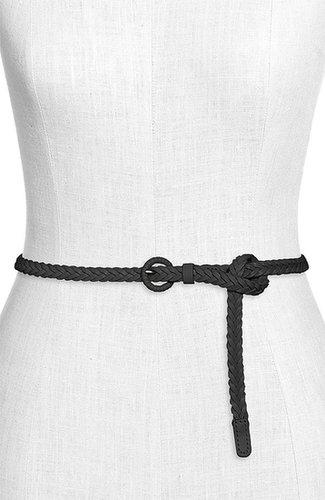 Tarnish Skinny Braided Leather Belt