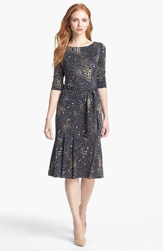 Tory Burch 'Denise' Print Pleated Dress