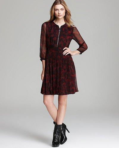 Burberry Brit Eleri Animal Print Silk Dress