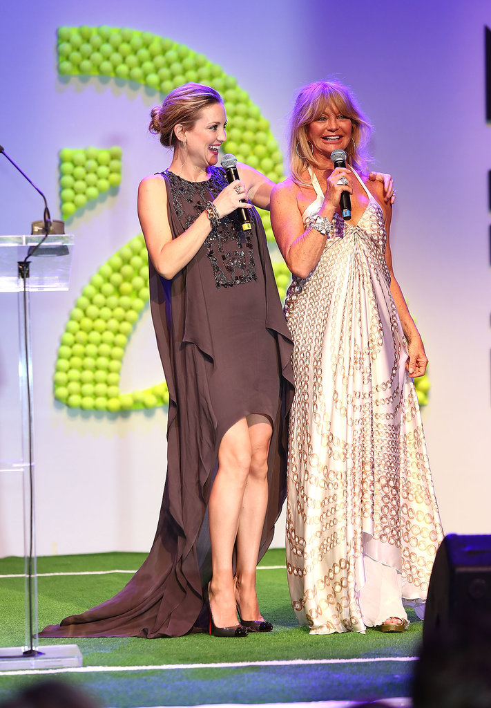 Kate and Goldie Flex Their Tennis Skills While Wearing Gowns