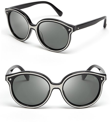 Rebecca Minkoff Cornelia Round Mod Sunglasses